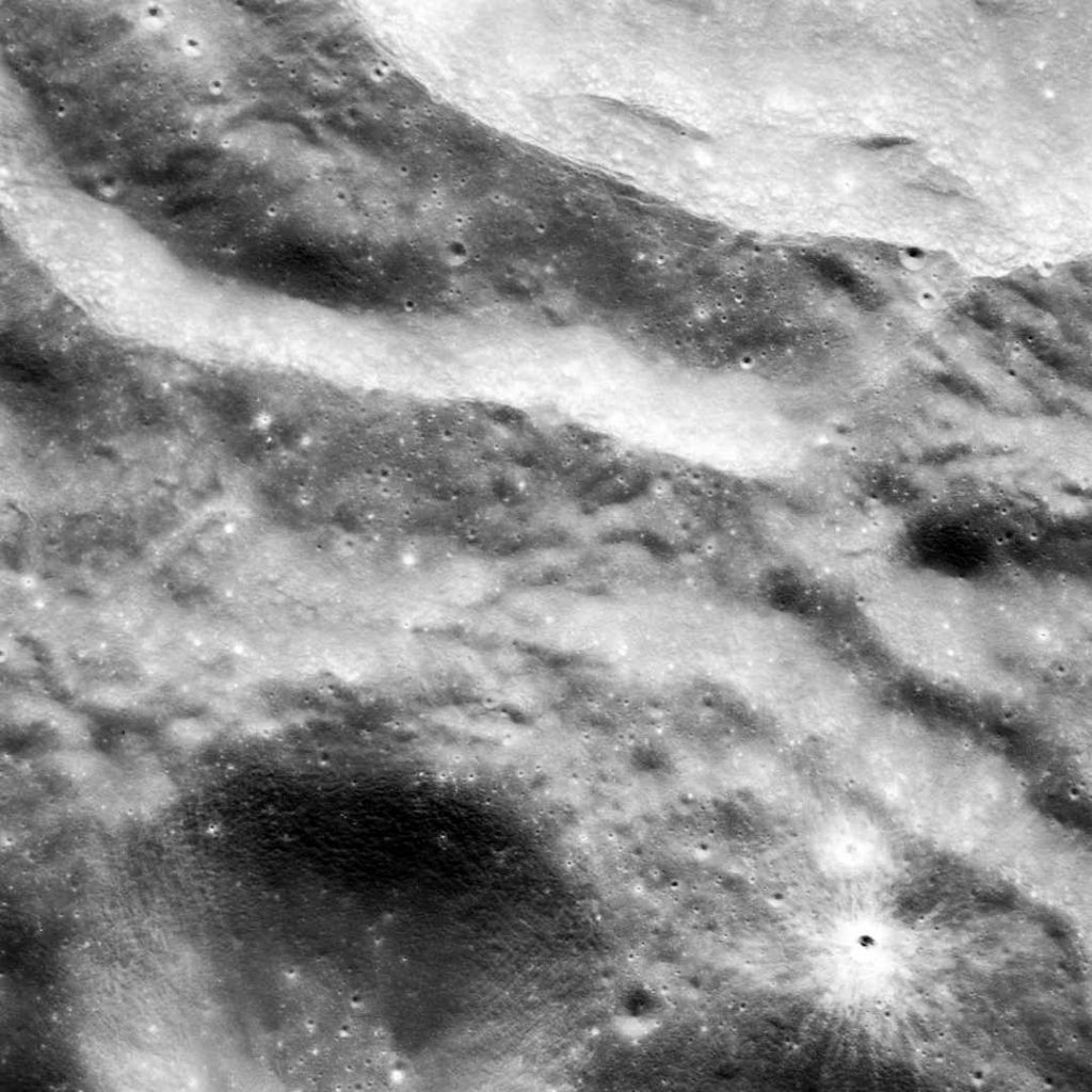 Moon surface image - desaturated and contrast increased, to be used a roughness map